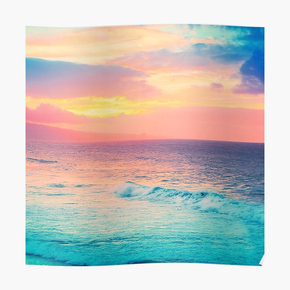 Hookipa Surf Sunset Poster