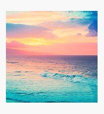 Hookipa Surf Sonnenuntergang Fotodruck