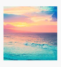 Hookipa Surf Sunset Photographic Print