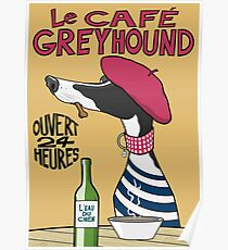 Póster Le Café Greyhound