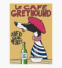 Le Café Greyhound Photographic Print
