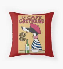 Le Café Greyhound Floor Pillow
