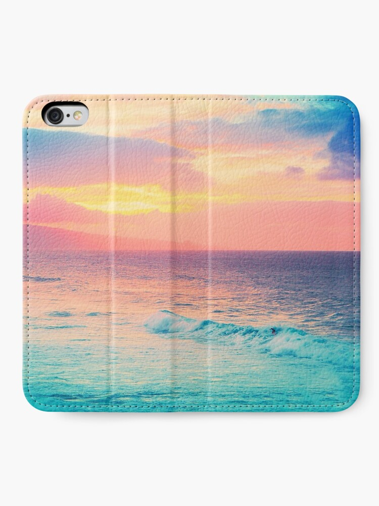 Alternative Ansicht von Hookipa Surf Sonnenuntergang iPhone Flip-Case