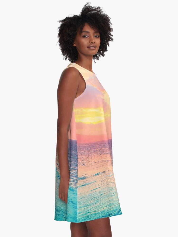 Alternate view of Hookipa Surf Sunset A-Line Dress