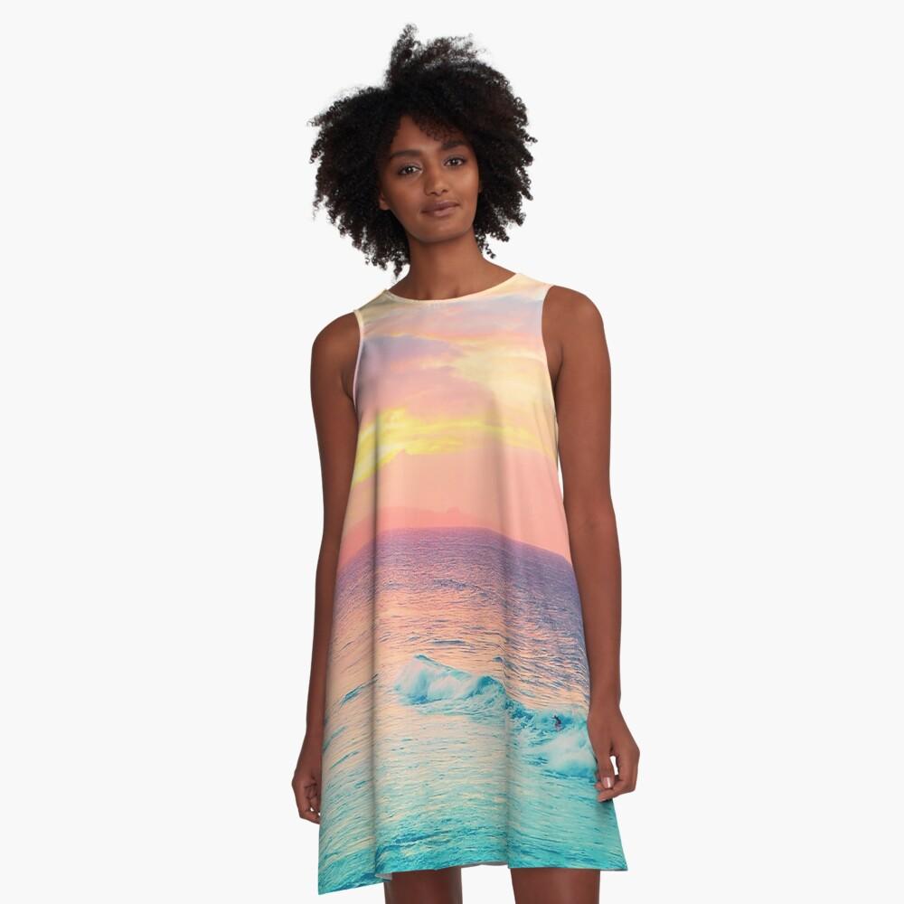 Hookipa Surf Sunset A-Line Dress