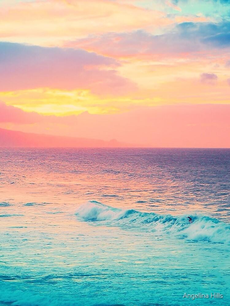 Hookipa Surf Sunset by alohaportraits