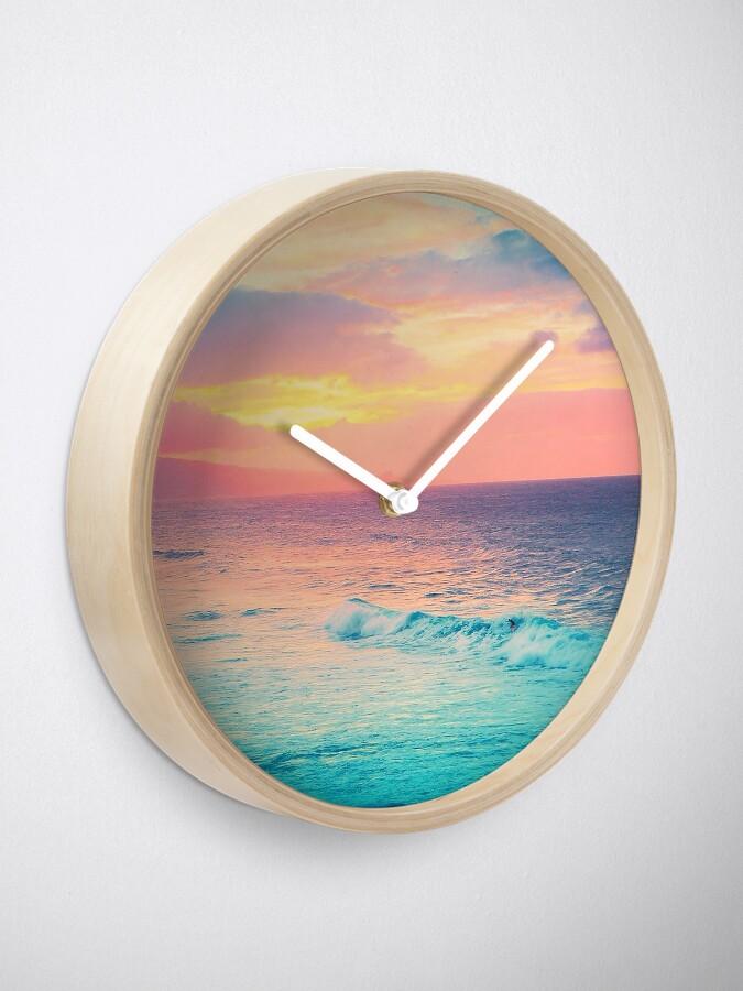Alternative Ansicht von Hookipa Surf Sonnenuntergang Uhr