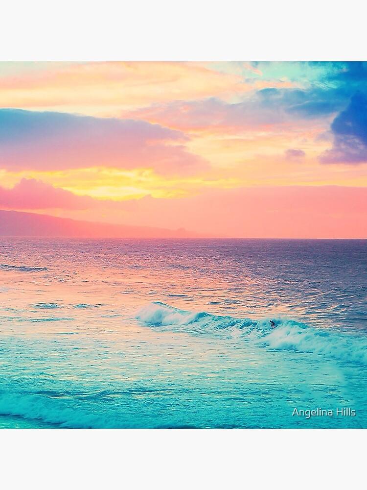 Hookipa Surf Sonnenuntergang von alohaportraits