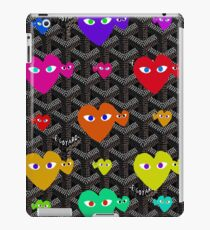 Goyard Love comme des garcons Play red rainbow iPad Case/Skin