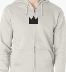 Black Crown Zipped Hoodie