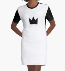 Black Crown Graphic T-Shirt Dress