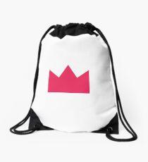 Pink Crown Drawstring Bag
