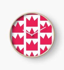 Pink Crown Clock