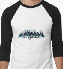 The Night Court Watercolor Mountains Baseball ¾ Sleeve T-Shirt