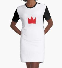 Red Crown Graphic T-Shirt Dress