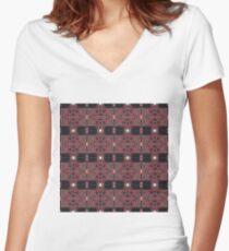 Cyberpunk, Steampunk, Techopunk Women's Fitted V-Neck T-Shirt