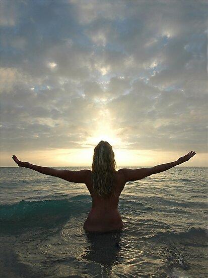 4008-SF Goddess Spirit Sunrise Powerful Ocean Sky, a Photograph by Chris Maher  by Chris Maher