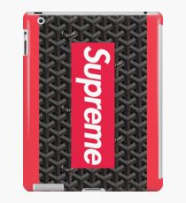 Goyard Love comme des garcons all red Play SUP SPREME iPad Case/Skin