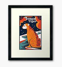 cat tshirt Bengal Tiger tshirt artwork vector design illustration art exotic animal poster Framed Print