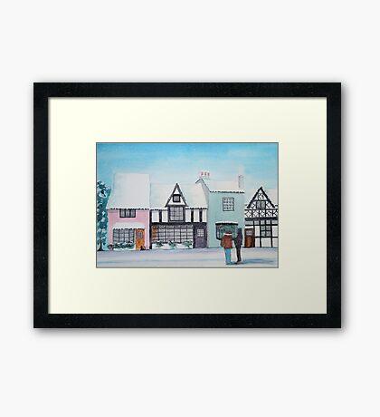 Snow on the Houses 3 Framed Print