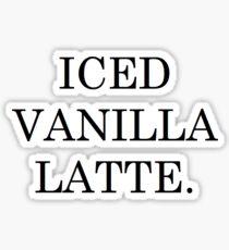 ICED VANILLA LATTE STARBUCKS Sticker