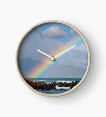 Bright Beach Rainbow Clock