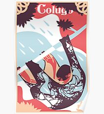 flying lemur art print exotic animal artwork tshirt original artwork digital illustration vector design wall decor Poster