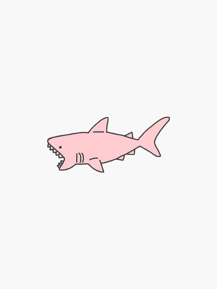 pink shark by sleet
