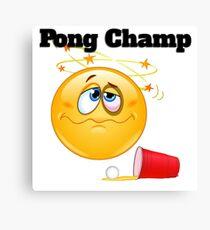 pong champ Canvas Print