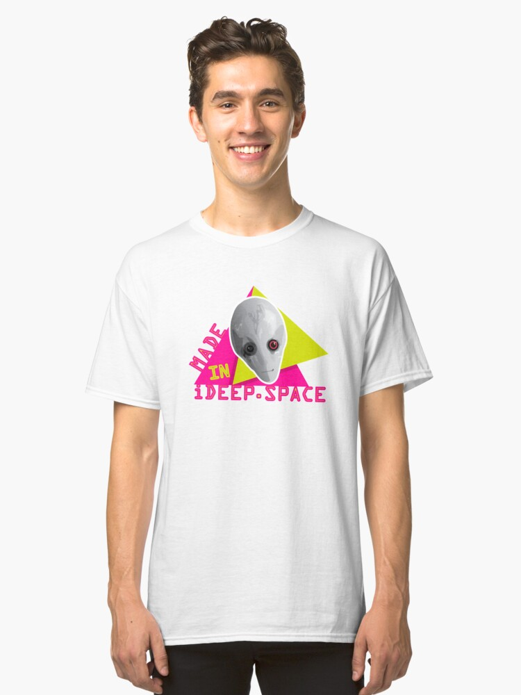 Made in IDeep.Space - Alien Classic T-Shirt Front