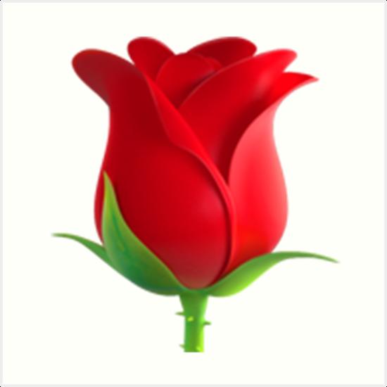 Quot Rose Emoji Quot Art Prints By Emojiqueen Redbubble