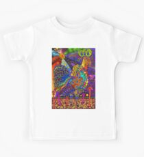 Psychedelic Trippy Rooster Color Kids Tee