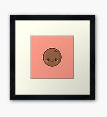 Cute coconut Framed Print