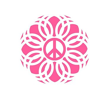 t-shirts with peace logo and pink flames by oscarmega