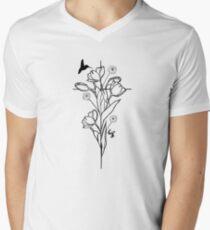 Tulip Cross Men's V-Neck T-Shirt