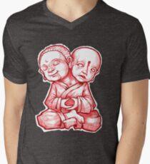 Two Headed Buddha Men's V-Neck T-Shirt