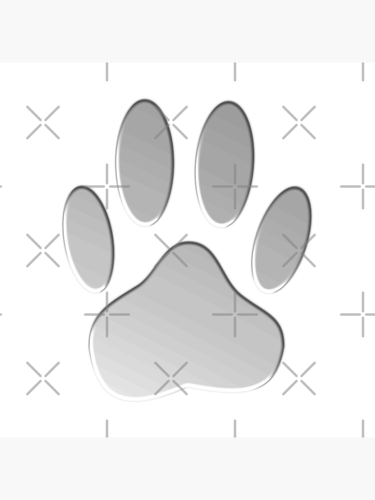 Faux Metallic Dog Paw Print by Almdrs