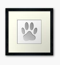 Metallic Dog Paw Print Framed Print