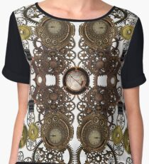 CyberPunk Steampunk Technopunk Clothing  Chiffon Top