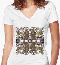 CyberPunk Steampunk Technopunk Clothing  #CyberPunk #Steampunk #Technopunk Women's Fitted V-Neck T-Shirt