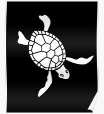 Sea Turtle - Save the Turtles, Save the Environment! Poster