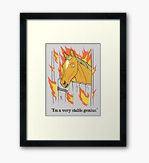 Stable Genius Framed Print