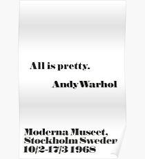 Alles ist ziemlich Andy Warhol Zitat Poster