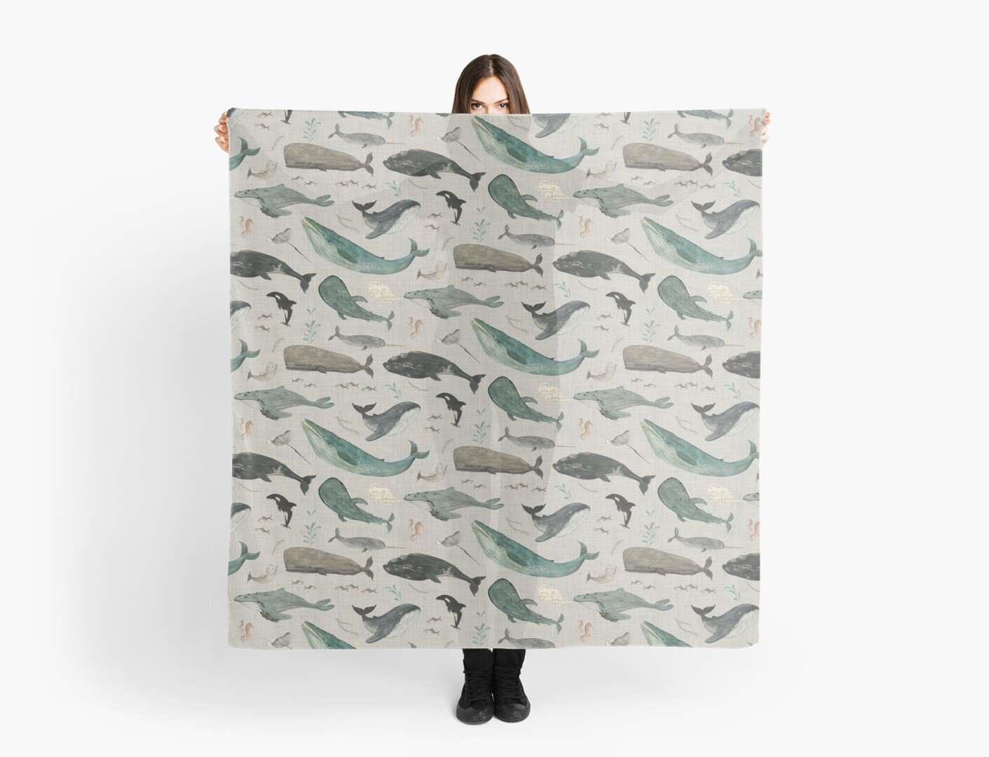 Whale song gray by Katherine Quinn