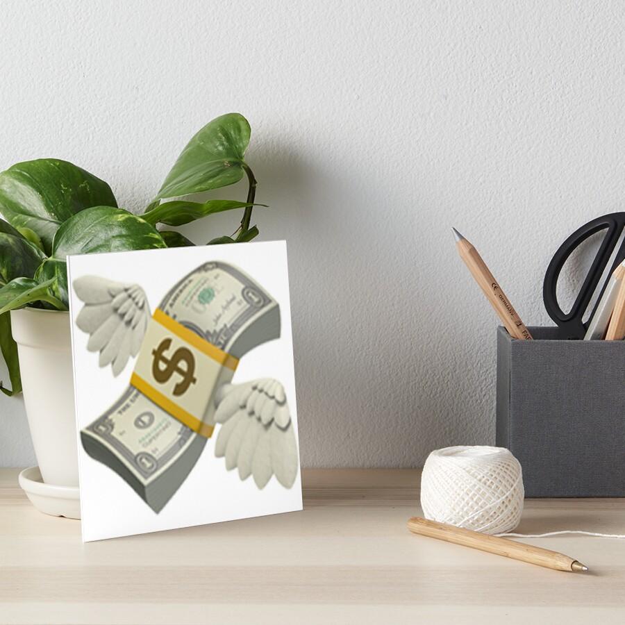 Flying Money Emoji Art Boards By Emojiqueen Redbubble