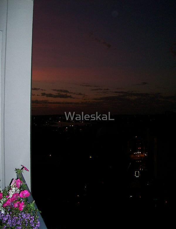 Sunset from my room by WaleskaL