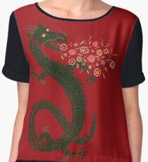 Dragon, Flower Breathing Chiffon Top