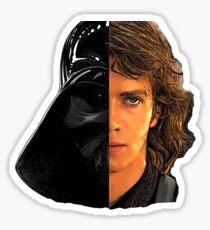 star wars Anakin Skywalker and Darth Vader Sticker