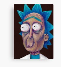 Rick and Morty-- trippy Rick Canvas Print