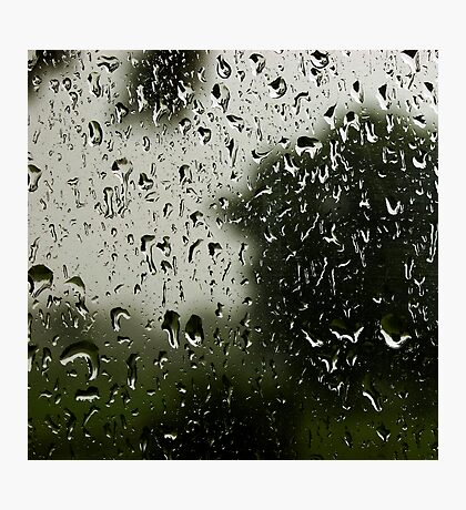 and the way the rain comes down hard, that's how i feel inside Photographic Print